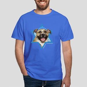 Hanukkah Star of David - Pitbull Dark T-Shirt