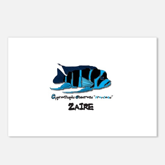 """""""ZAIRE"""" Frontosa Postcards (Package of 8)"""