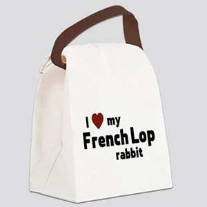 French Lop rabbit Canvas Lunch Bag