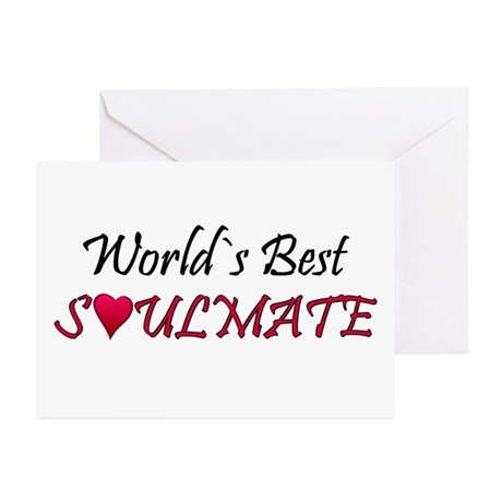 ...World`s Best Soulmate... Note Cards (Pack of 6)