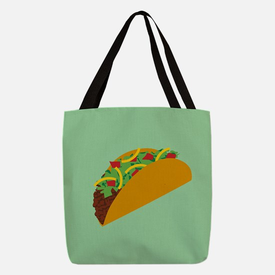 Taco Graphic Polyester Tote Bag