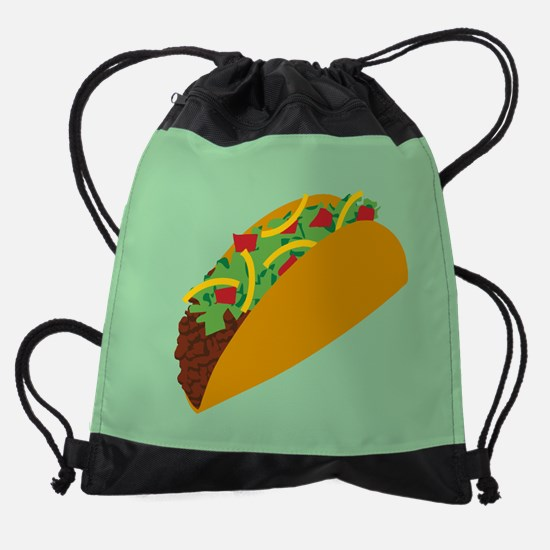 Taco Graphic Drawstring Bag