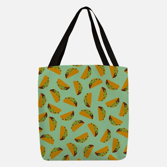 Taco Pattern Polyester Tote Bag