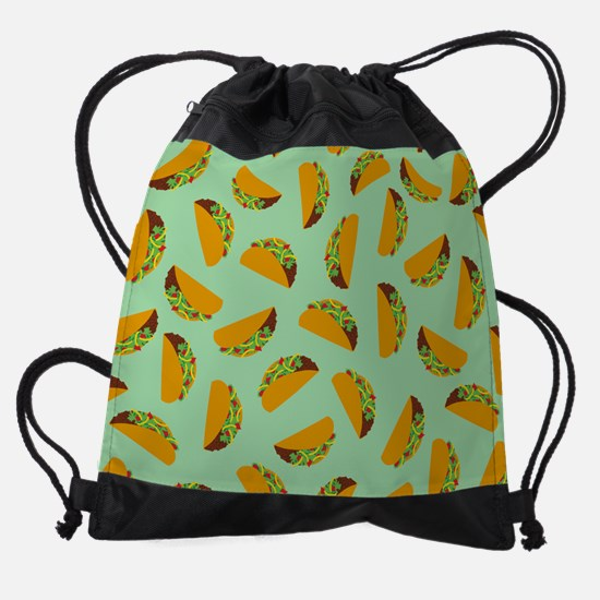 Taco Pattern Drawstring Bag