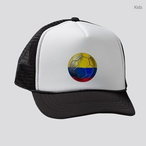 Colombia Soccer Ball Kids Trucker hat