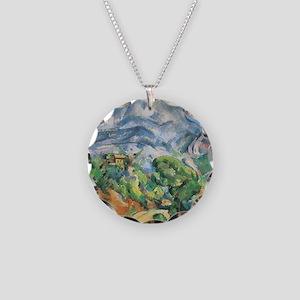 Cezanne Mont Sainte Victoire Necklace Circle Charm