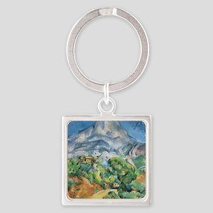 Cezanne Mont Sainte Victoire Square Keychain