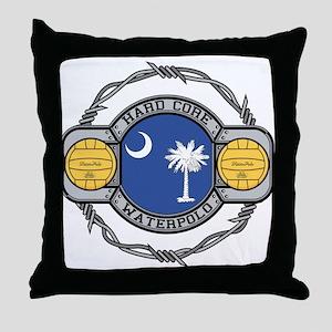 South Carolina Water Polo Throw Pillow