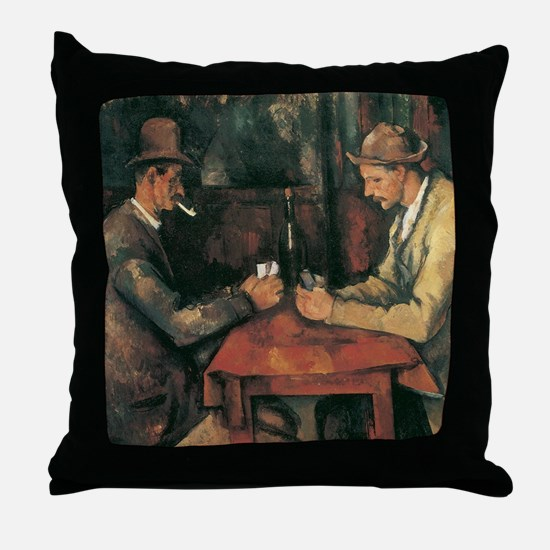 Cezanne The Card Players Throw Pillow