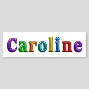 Caroline Shiny Colors Bumper Sticker