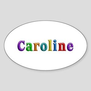 Caroline Shiny Colors Oval Sticker