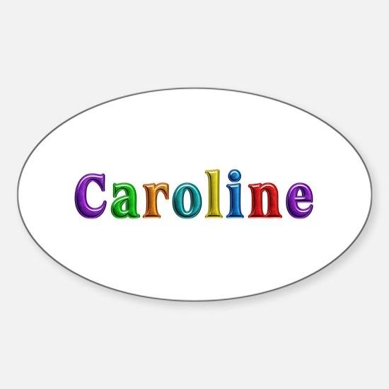 Caroline Shiny Colors Oval Decal