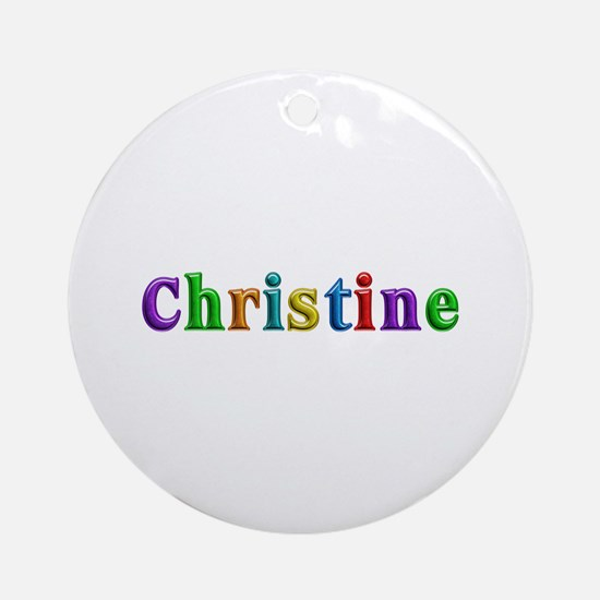 Christine Shiny Colors Round Ornament