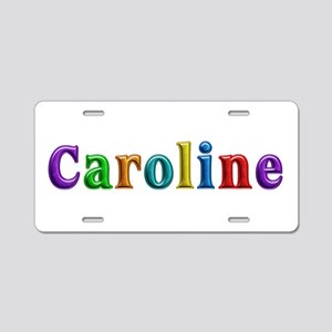 Caroline Shiny Colors Aluminum License Plate