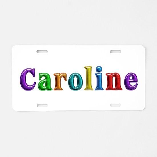 Caroline Shiny Colors Aluminum License Plate