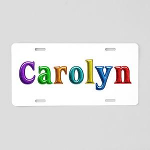 Carolyn Shiny Colors Aluminum License Plate