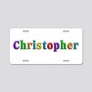 Christopher Shiny Colors Aluminum License Plate