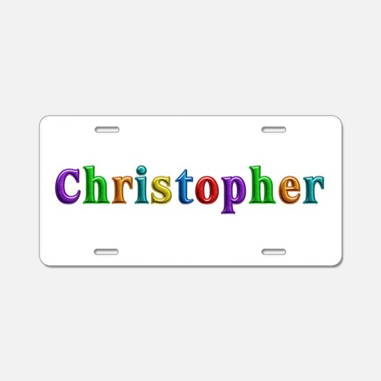Christopher Shiny Colors Aluminum License Plate