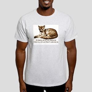 No Heaven Without Cats Light T-Shirt