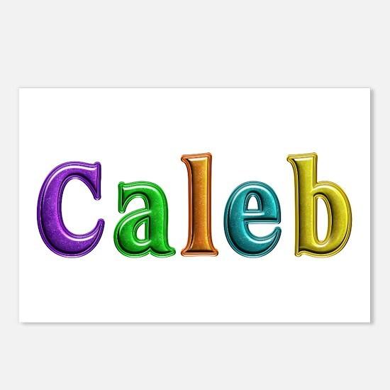 Caleb Shiny Colors Postcards 8 Pack