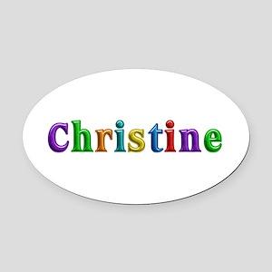Christine Shiny Colors Oval Car Magnet