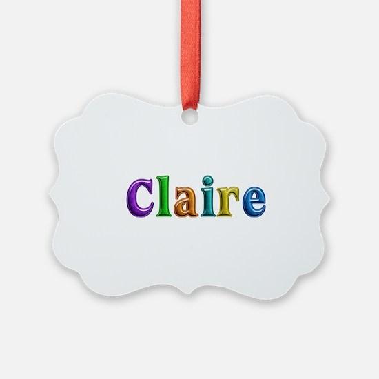 Claire Shiny Colors Ornament