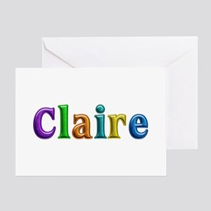Claire Shiny Colors Greeting Card