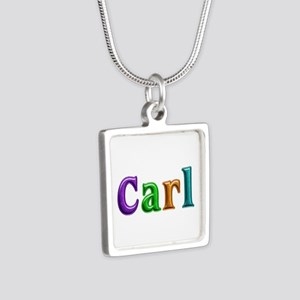 Carl Shiny Colors Silver Square Necklace