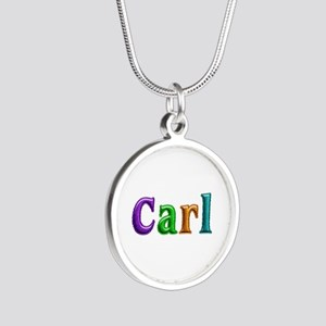 Carl Shiny Colors Silver Round Necklace