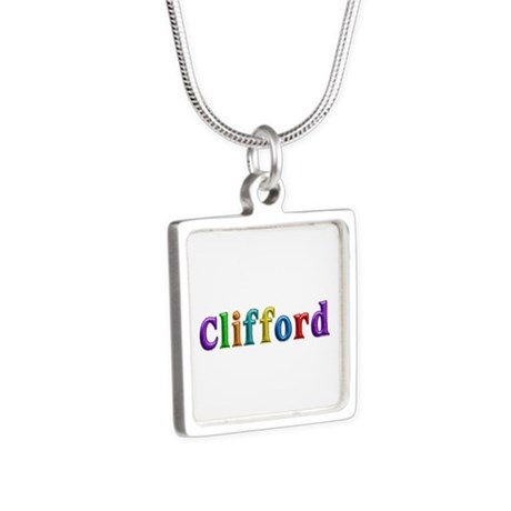 Clifford Shiny Colors Silver Square Necklace by namestuff