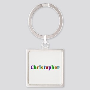 Christopher Shiny Colors Square Keychain