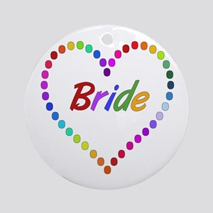 Rainbow Bride Ornament (Round)