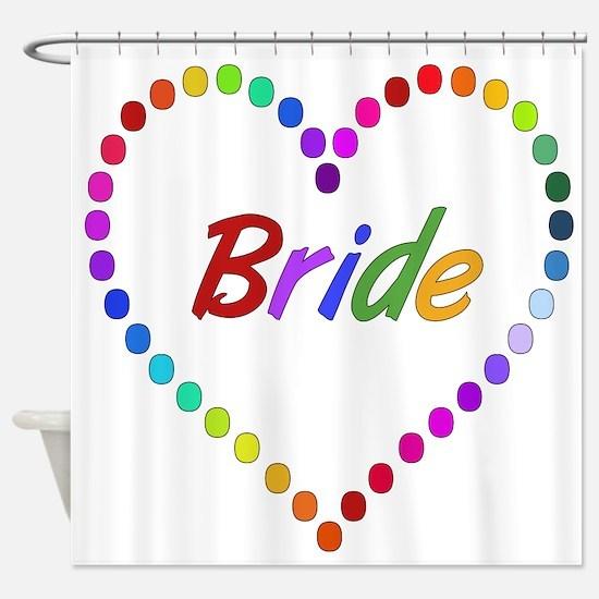 Rainbow Bride Shower Curtain