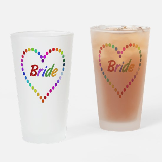 Rainbow Bride Drinking Glass