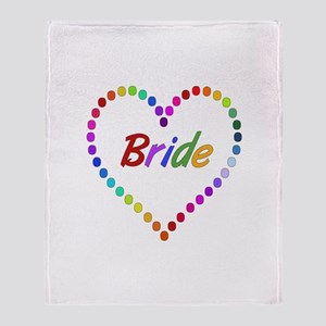 Rainbow Bride Throw Blanket