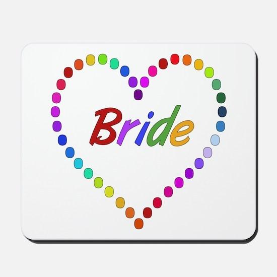 Rainbow Bride Mousepad