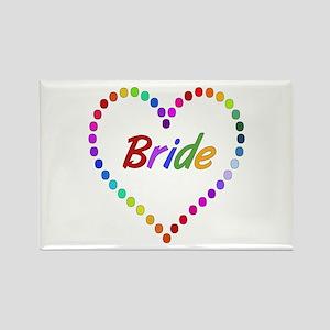 Rainbow Bride Rectangle Magnet