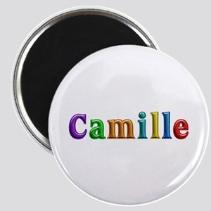 Camille Shiny Colors Round Magnet
