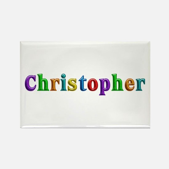 Christopher Shiny Colors Rectangle Magnet 100 Pack