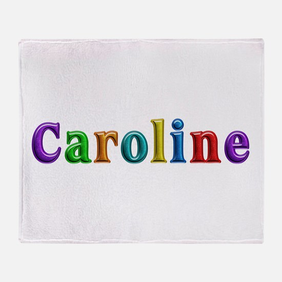 Caroline Shiny Colors Throw Blanket