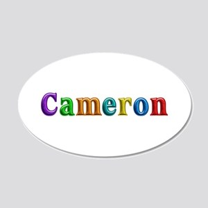 Cameron Shiny Colors 20x12 Oval Wall Decal