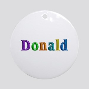 Donald Shiny Colors Round Ornament