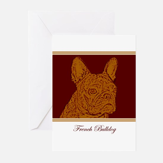 French Bulldog Rec (brown) Greeting Cards (Package