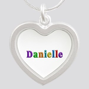 Danielle Shiny Colors Silver Heart Necklace