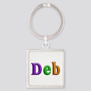 Deb Shiny Colors Square Keychain