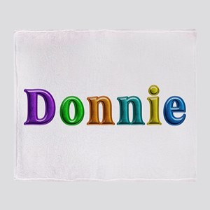 Donnie Shiny Colors Throw Blanket