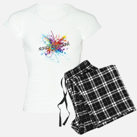 Rainbow Splash Genderqueer Pajamas