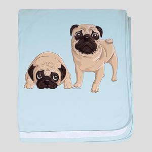 Pugs baby blanket