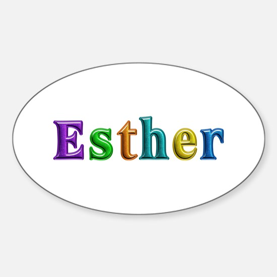 Esther Shiny Colors Oval Decal