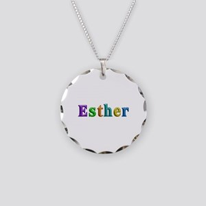 Esther Shiny Colors Necklace Circle Charm